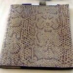 Lizard skin custom made leather cover